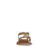 Sandales en cuir avec brides croisées et imprimé léopard