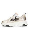 Dad shoes en cuir avec imprimé léopard - doré