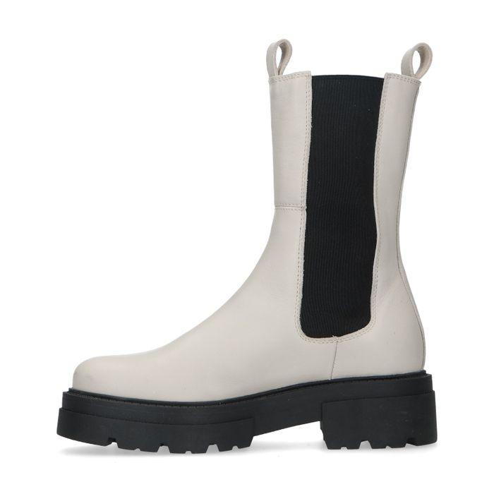 Chelsea boots en cuir - beige