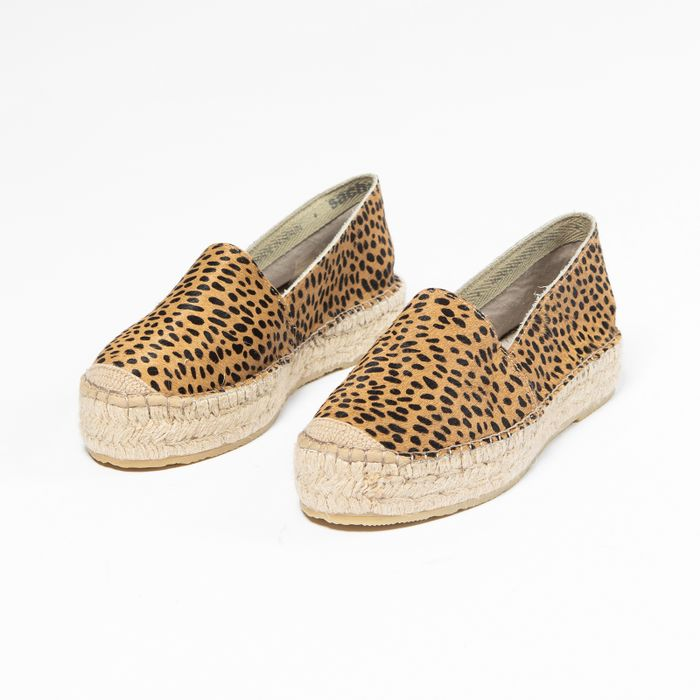 Espadrilles avec imprimé léopard