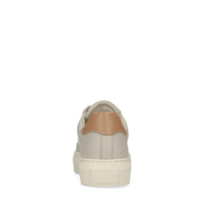 Baskets en cuir avec détail - beige