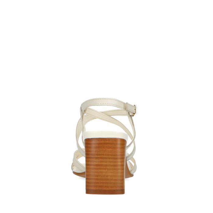 Sandales cuir à talon - beige