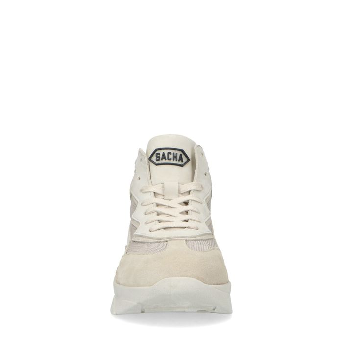 Dad shoes mi-hautes en cuir - beige
