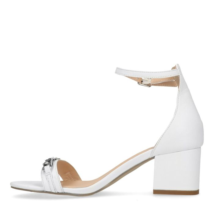 Sandales à talon avec détail - blanc