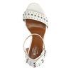 Sandales à talon avec clous - blanc