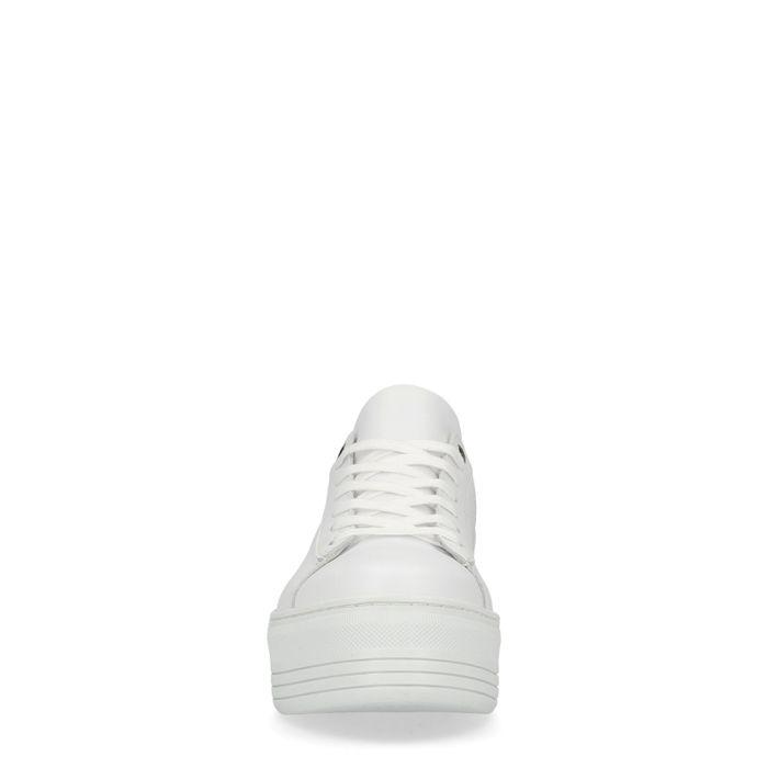 Baskets en cuir à plateforme - blanc