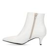 Bottines avec kitten heel - blanc
