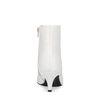 Bottines avec kitten heel - blanc
