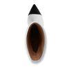 Bottes courtes en cuir à talon - blanc