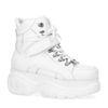 High top chunky sneakers - blanc