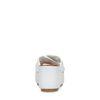 Claquettes en cuir à plateforme - blanc