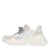 Dad shoes en cuir avec semelle plateforme - blanc