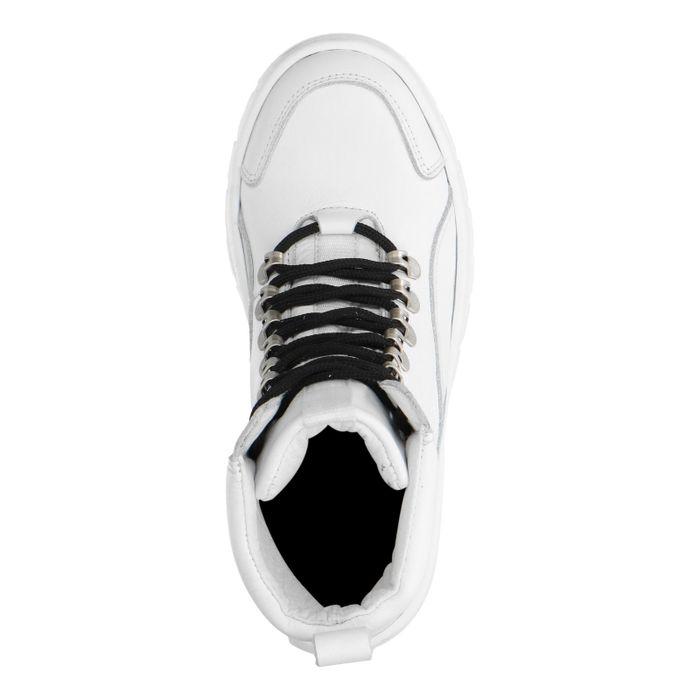 Grosses baskets montantes en cuir - blanc