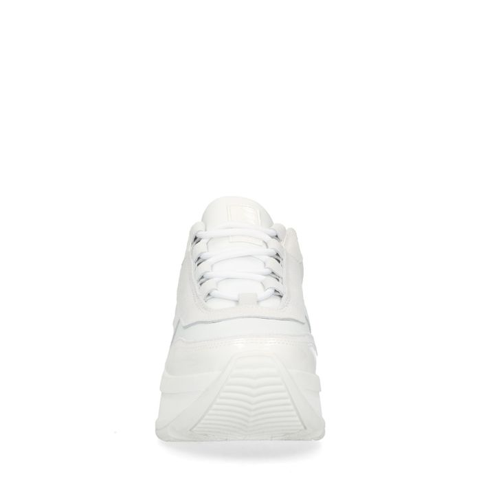 Dad shoes en cuir - blanc
