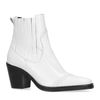 Bottines cuir à talon - blanc