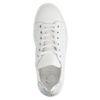 Baskets cuir à plateforme avec détails - blanc