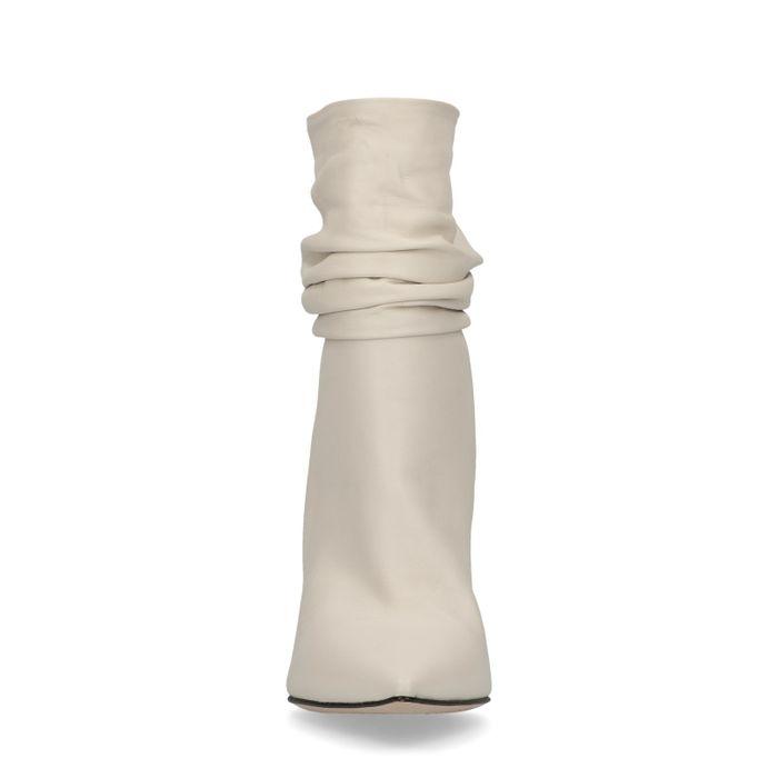 Bottes courtes avec talon aiguille - blanc