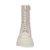 Bottes à lacets en cuir avec semelle plateforme - blanc cassé