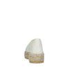 Espadrilles en cuir avec motif à carreaux - blanc cassé