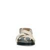 Sandales en cuir avec clous argentés - blanc cassé
