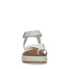Sandales cuir à plateforme - blanc cassé
