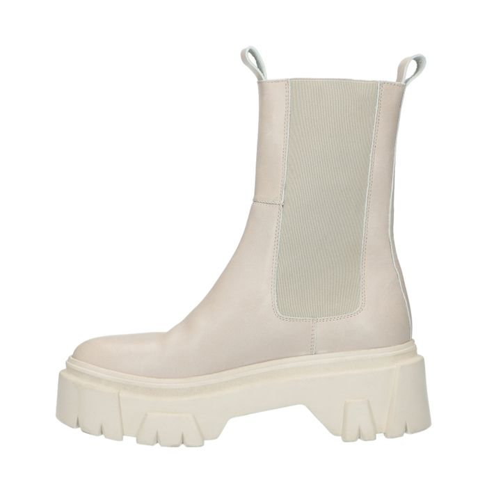 Chelsea boots en cuir - blanc cassé