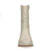 Santiags en cuir avec détail croco - blanc cassé