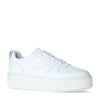 Baskets en cuir avec semelle plateforme - blanc