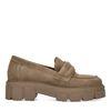 Loafers en daim - beige