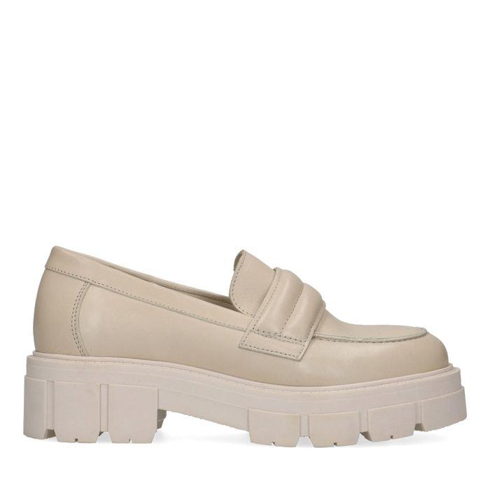 Loafers en cuir - marron