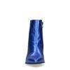 Bottines métallisées à talon - bleu