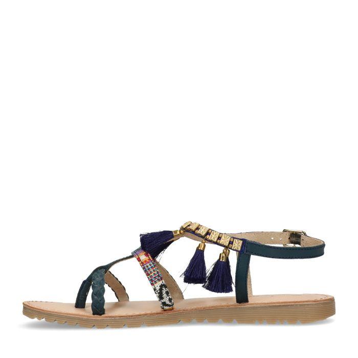 Sandales avec détails - bleu foncé