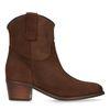 Bottines en cuir style western - marron