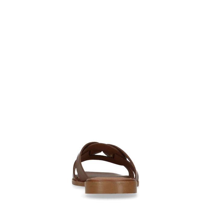 Claquettes en cuir - marron