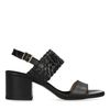 Escarpins bas en cuir avec détail tressé - noir