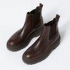 Chelsea boots en cuir - marron foncé