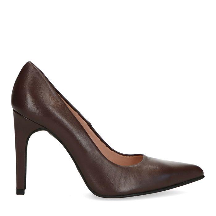 Escarpins en cuir - marron