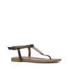 Sandales en cuir avec détail - marron foncé