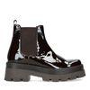 Chelsea boots en cuir verni - marron foncé