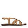 Sandales en cuir avec brides tressées - marron