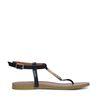 Sandales avec détails dorés - noir