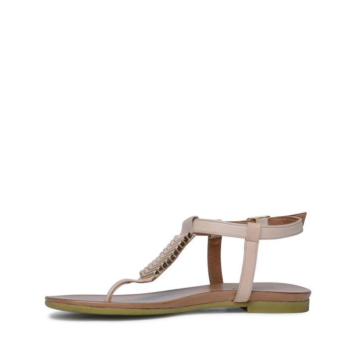 Sandales en cuir - nude