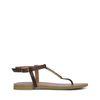 Sandales avec détail doré - marron foncé