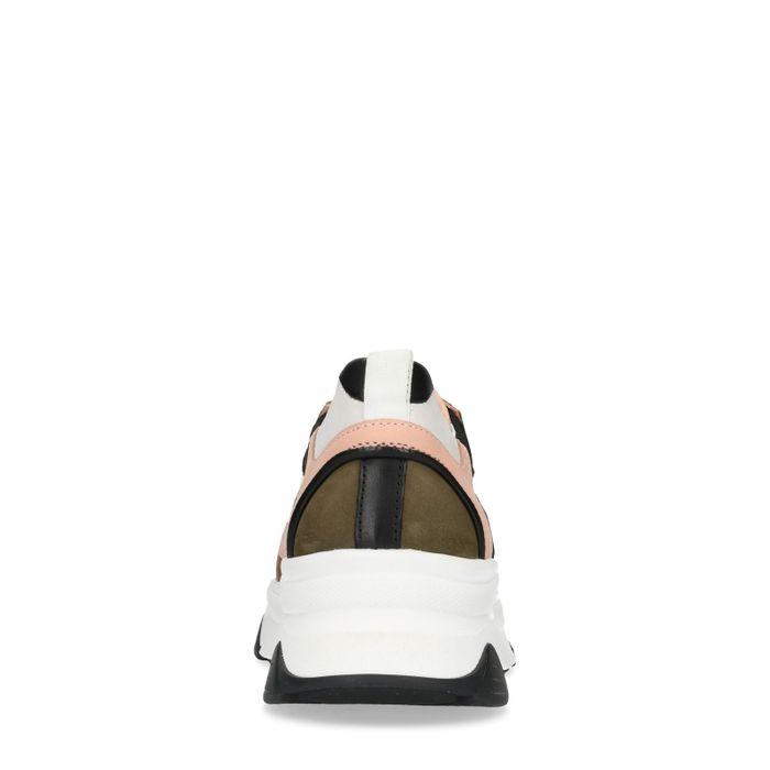 Dad shoes en cuir avec détails - blanc