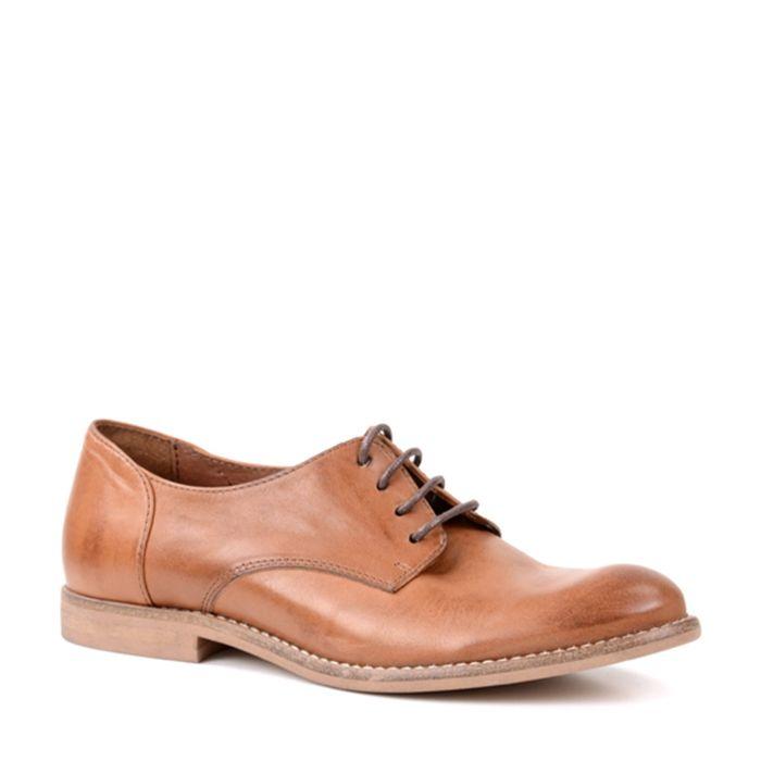 Chaussures à lacets en cuir - marron