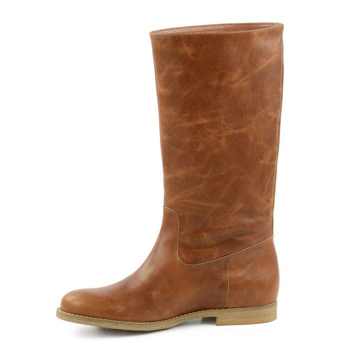 Bottes en cuir hautes - marron