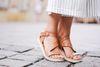 Sandales à plateau - cognac