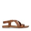 Sandales en cuir - cognac
