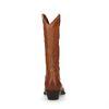 Bottes style cowboy avec talon biseauté - cognac