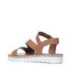 Sandales à plateforme en cuir - marron